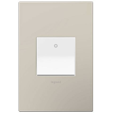 adorne Greige 1-Gang Wall Plate w/ Switch