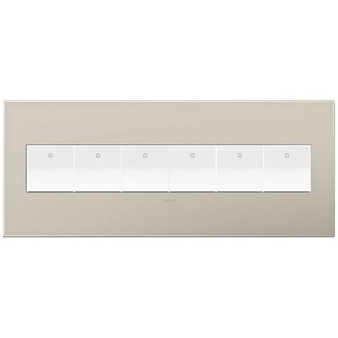 adorne Greige 6-Gang Wall Plate w/ 6 Switches