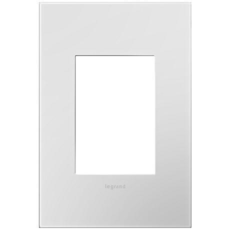 adorne® Powder White 1-Gang 3-Module Snap-On Wall Plate