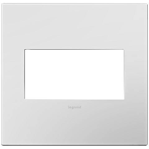 adorne® Powder White 2-Gang Snap-On Wall Plate