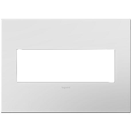 adorne® Powder White 3-Gang Snap-On Wall Plate
