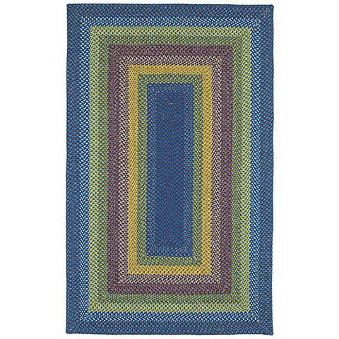 Kaleen Bimini 3010-86 Multi-Color Blue Outdoor Area Rug
