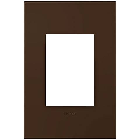 adorne® Truffle 1-Gang 3-Module Snap-On Wall Plate