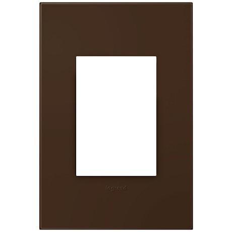 adorne® Truffle 1-Gang 3-Module Snap-On Wall Plate