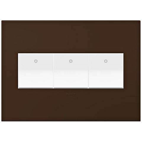 adorne Truffle 3-Gang Wall Plate w/ 3 Switches
