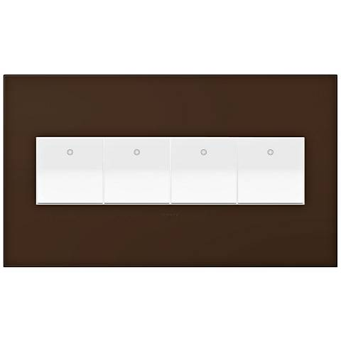 adorne Truffle 4-Gang Wall Plate w/ 4 Switches