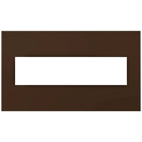 adorne® Truffle 4-Gang Snap-On Wall Plate