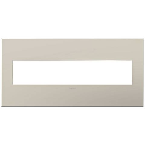 adorne® Greige 5-Gang Snap-On Wall Plate