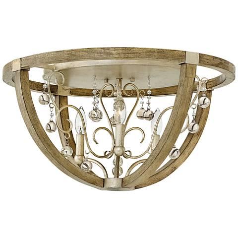 """Fredrick Ramond Abingdon 24 1/4""""W Silver Leaf Ceiling Light"""