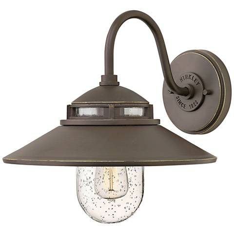 """Hinkley Atwell 11 3/4""""H Oil Rubbed Bronze Outdoor Wall Light"""