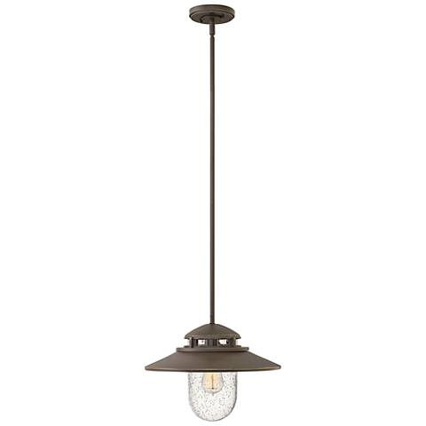 """Atwell 11"""" High Oil Rubbed Bronze Outdoor Hanging Light"""