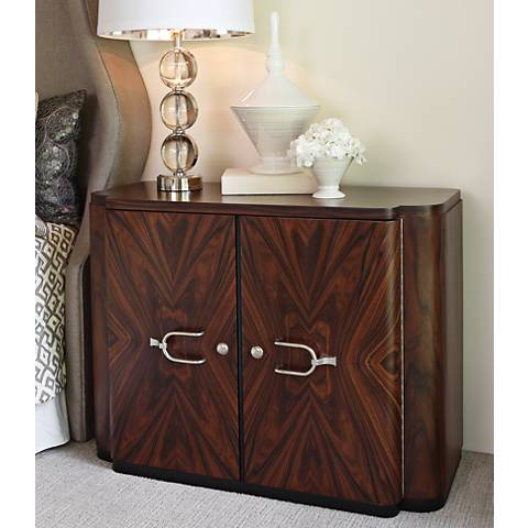 Global Views Santos Brown Wood 2-Door Cabinet