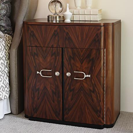 Global Views Santos Brown Wood Small Chest with Drawer