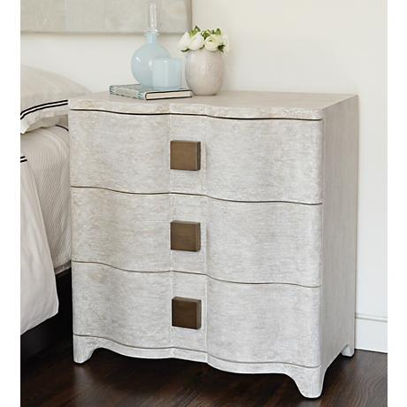 Global Views Toile Belgian Linen Bedside Chest
