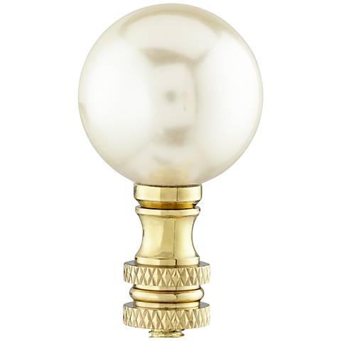 Ivory Pearl Lamp Shade Finial