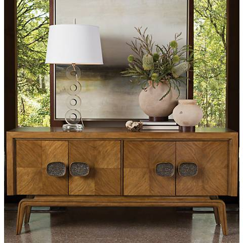 Global Views Vienna Walnut Wood 4-Door Sideboard