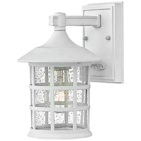 "Hinkley Freeport 9 1/4""H Classic White Outdoor Wall Light"