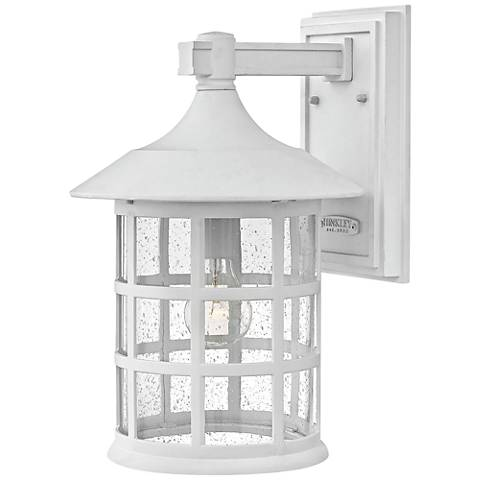 "Hinkley Freeport 15 1/4""H Classic White Outdoor Wall Light"