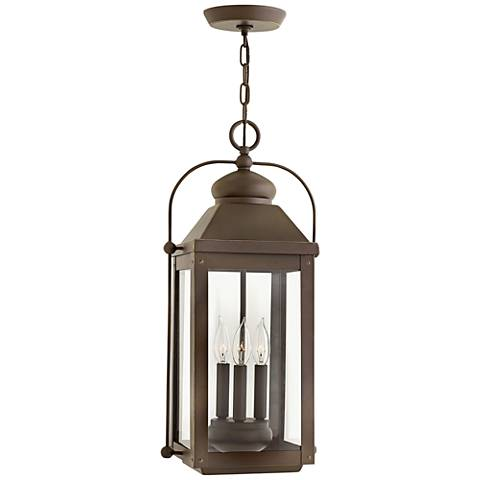 "Anchorage 23 3/4""H Light Oiled Bronze Outdoor Hanging Light"