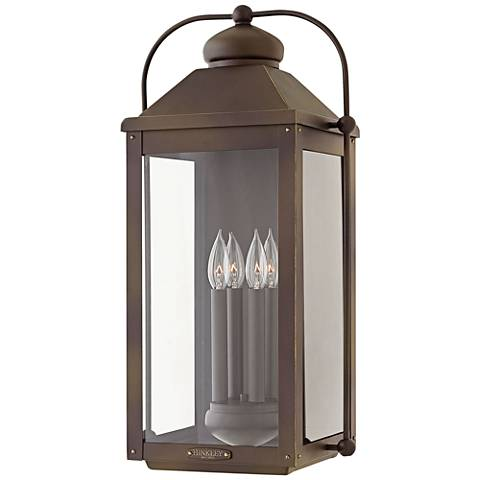 "Hinkley Anchorage 25""H Light Oiled Bronze Outdoor Wall Light"