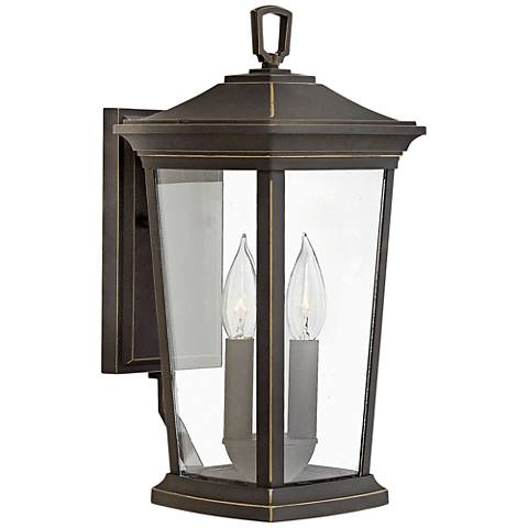 """Bromley 15 1/4"""" High Oil Rubbed Bronze Outdoor Wall Light"""