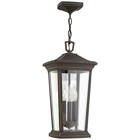"""Hinkley Bromley 19""""H Oil Rubbed Bronze Outdoor Hanging Light"""