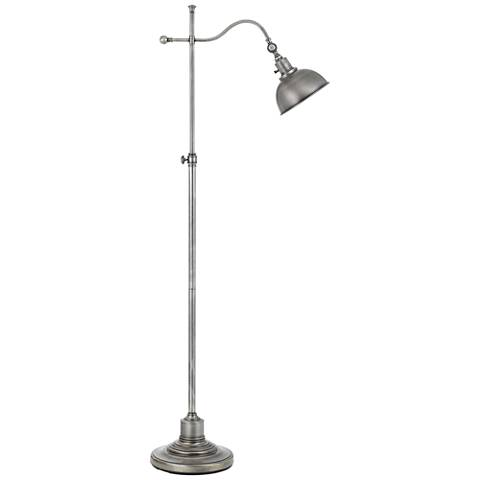 Portico Antique Pewter Adjustable Pharmacy Floor Lamp