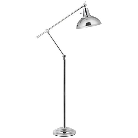 Eupen Polished Chrome Adjustable Linear Floor Lamp