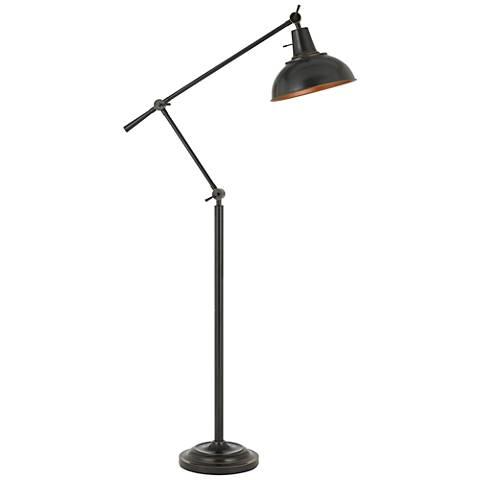 Eupen Dark Bronze Adjustable Linear Floor Lamp
