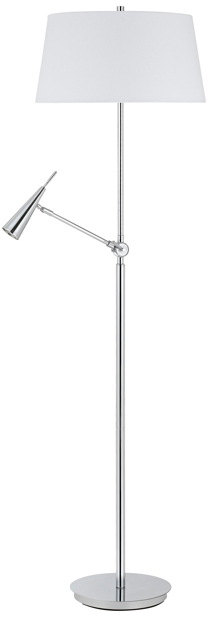 Jacoby Polished Chrome Floor Lamp With LED Reading Light