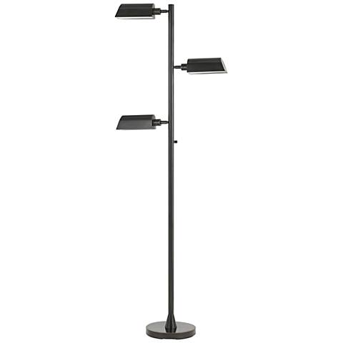 Nico LED Dark Bronze Tri-Level 3-Light Swivel Floor Lamp