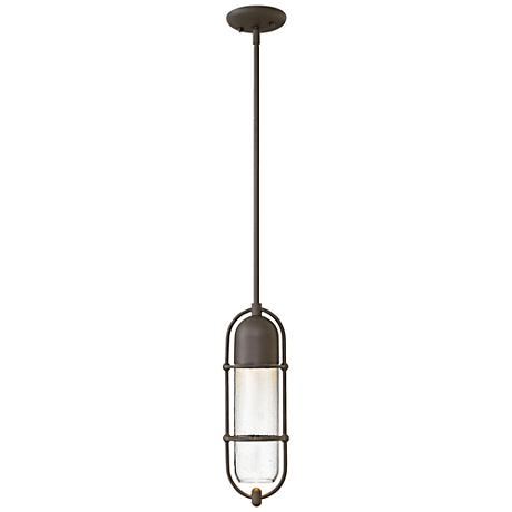 """Perry 16""""H Oil Rubbed Bronze Outdoor Hanging Light"""