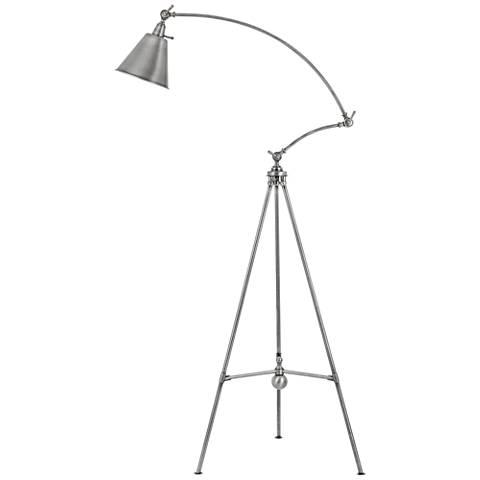 Merton Antique Pewter Adjustable Tripod Floor Lamp