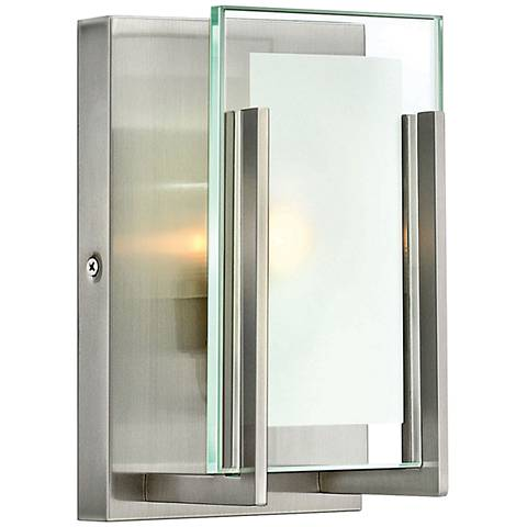 Hinkley Latitude 8 Quot High Brushed Nickel Led Wall Sconce
