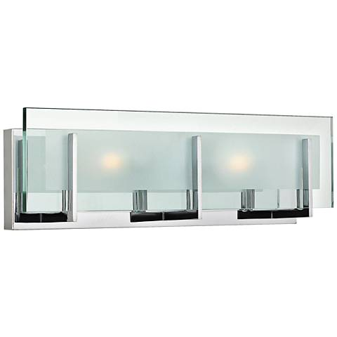 "Hinkley Latitude 5 1/2"" High Chrome 2-Light LED Wall Sconce"