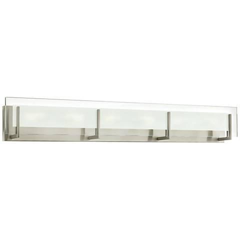 "Hinkley Latitude 37 1/2"" Wide Brushed Nickel LED Bath Light"