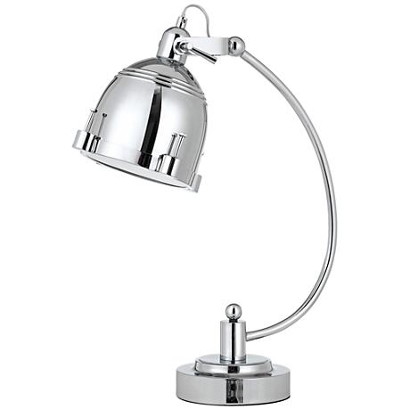 Hubble Polished Chrome Arc-Arm Adjustable Desk Lamp
