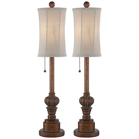 Bertie 28 Quot High Tall Buffet Table Lamps Set 10v33