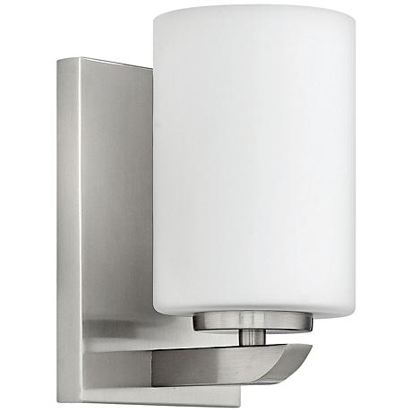 "Hinkley Kyra 7 3/4"" High Brushed Nickel 1-Light Wall Sconce"
