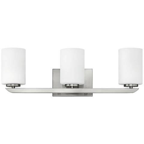 "Hinkley Kyra 24"" Wide Brushed Nickel 3-Light Bath Light"