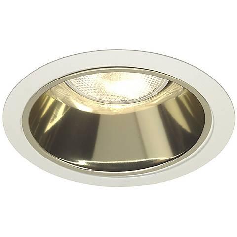 """Juno 6"""" Line Voltage Gold Alzak Recessed Light Trim"""