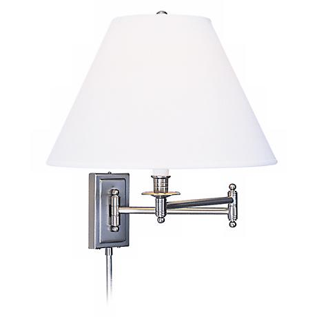 Kinetic Collection Brushed Chrome Ascot Plug In Swing Arm 11463 Lamps Plus