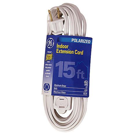 Fifteen Foot White Indoor Extension Cord