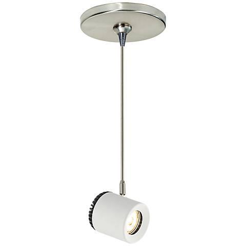 """Tech Lighting Burk 3 1/2"""" Wide White LED Mini Pendant"""
