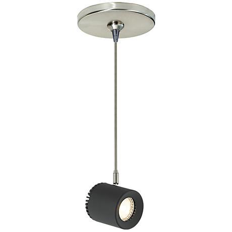 """Tech Lighting Burk 3 1/2"""" Wide Black LED Mini Pendant"""