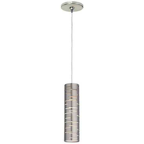 "Revel 2 1/2"" Wide Satin Nickel LED Freejack Mini Pendant"