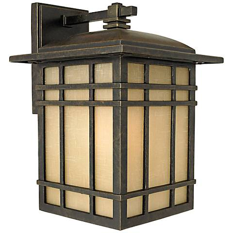 "Quoizel Hillcrest 12 3/4"" High Bronze Outdoor Wall Light"