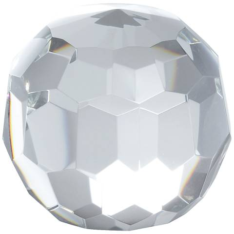 Kassady Clear Crystal Ball Paperweight