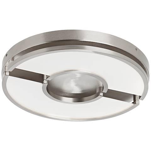 "LBL Zahra 17"" Wide Satin Nickel LED Ceiling Light"