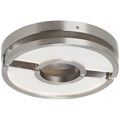 "LBL Zahra 10"" Wide Satin Nickel LED Ceiling Light"